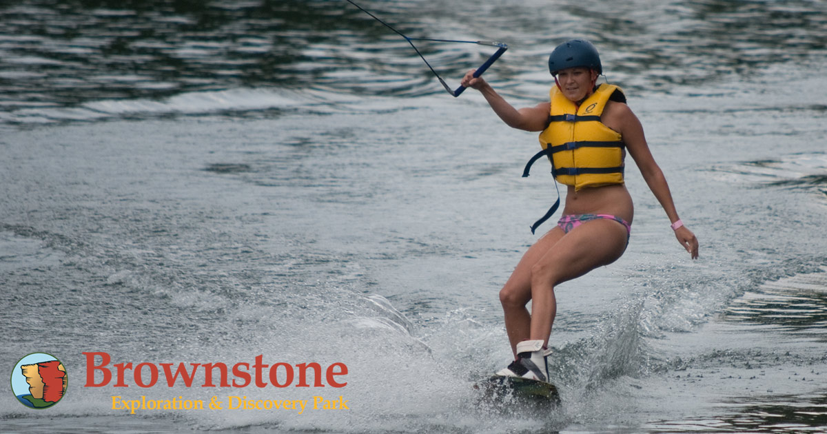 wakeboarding fun on our continuous cable system at brownstone park